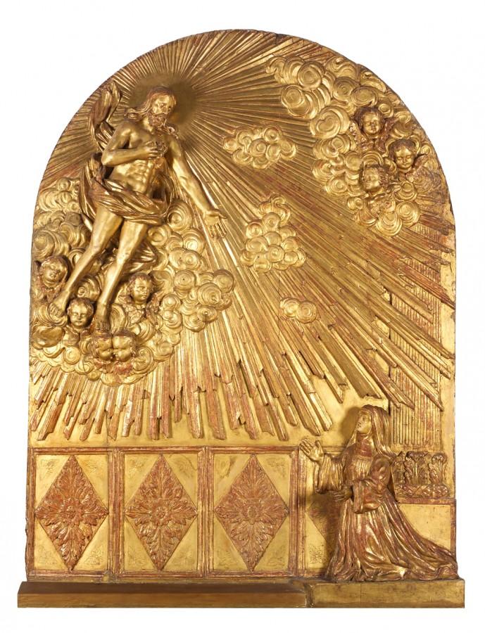 Apparition du Christ à Marguerite-Marie Alacoque, début du 18e siècle
