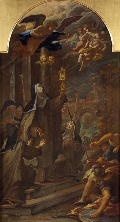 Sainte Claire chassant les sarrazins, 18e siècle
