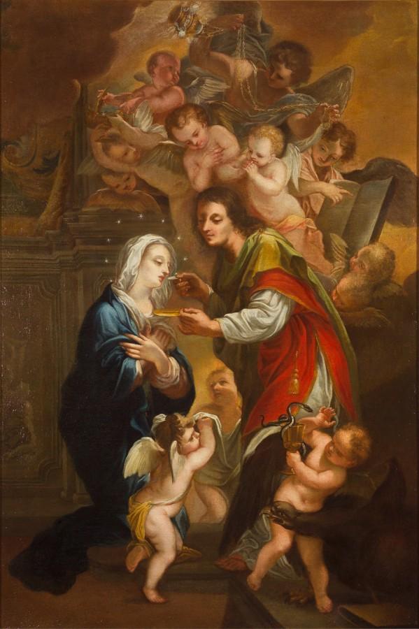 La communion de la Vierge, début du 17e siècle