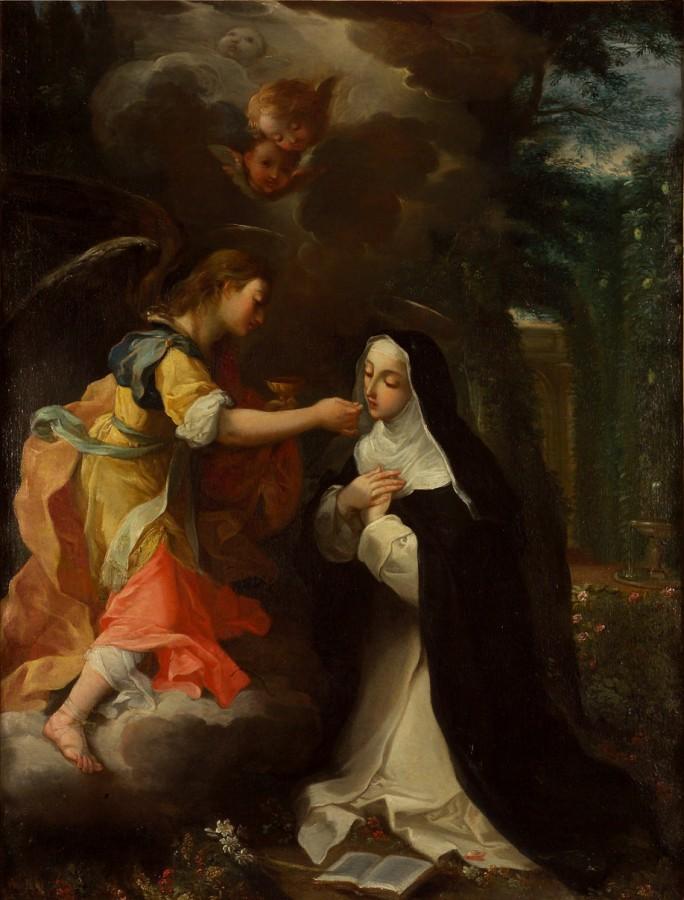La communion de sainte Catherine de Sienne, 17e siècle