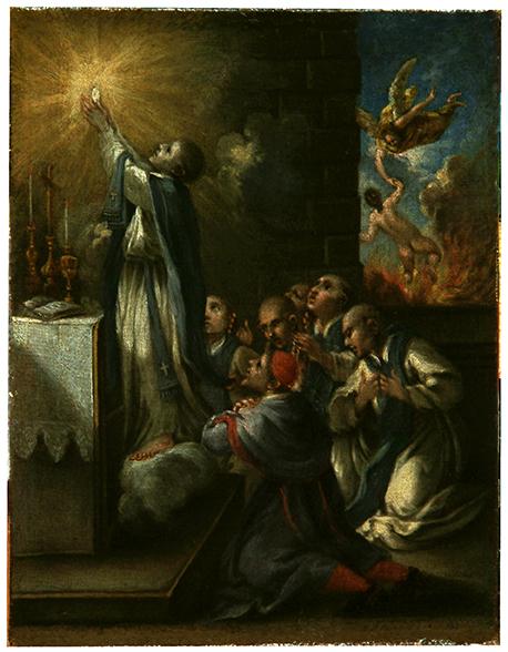 Saint André Avellin délivrant une âme du purgatoire, 18e siècle