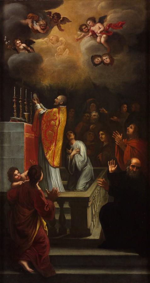 L'élévation eucharistique, 17e siècle