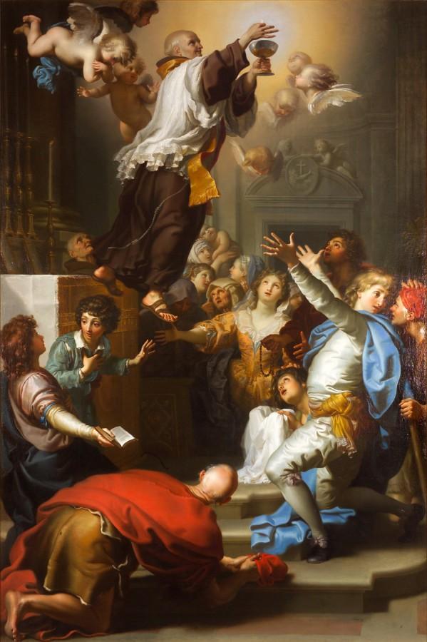 La lévitation du bienheureux Thomas de Cori, Antonio Cavalluci, 1786
