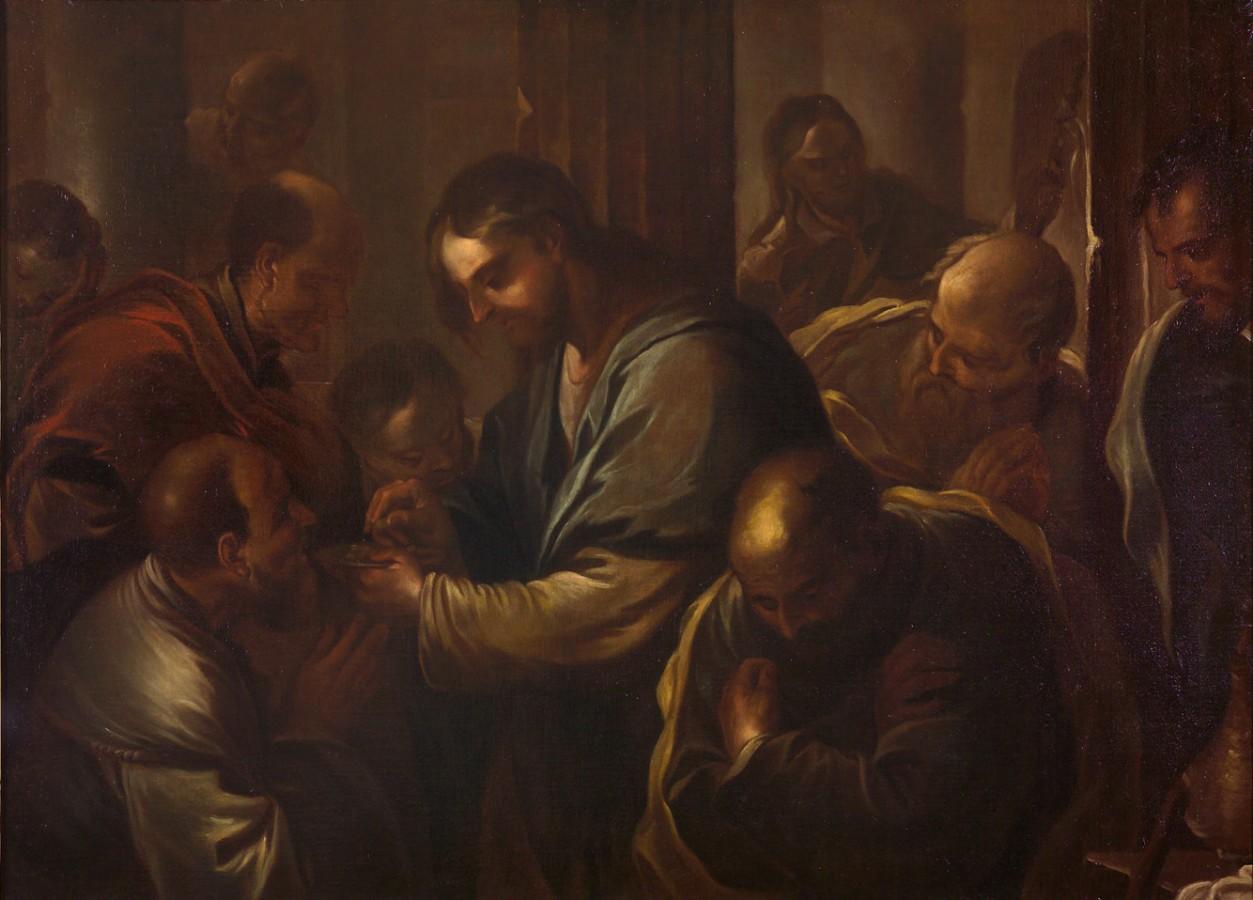 La communion des apôtres, attr. à Lucas Gordiano