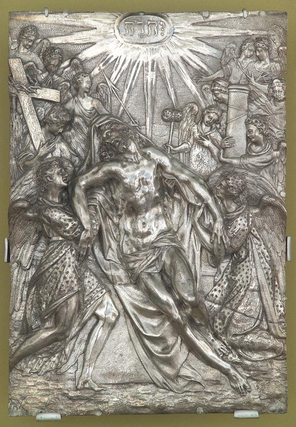 Le Christ mort soutenu par deux anges, fin du 16e siècle