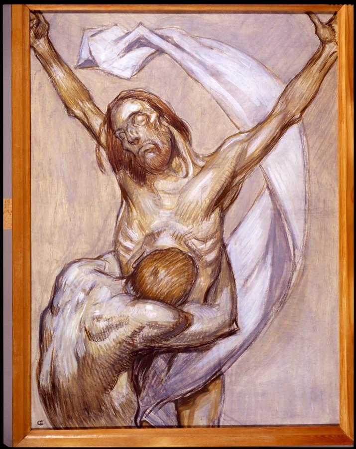 Christ décrucifié par la prière, Jean-Georges Cornélius