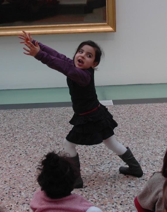 Appréhender les tableaux par le mime