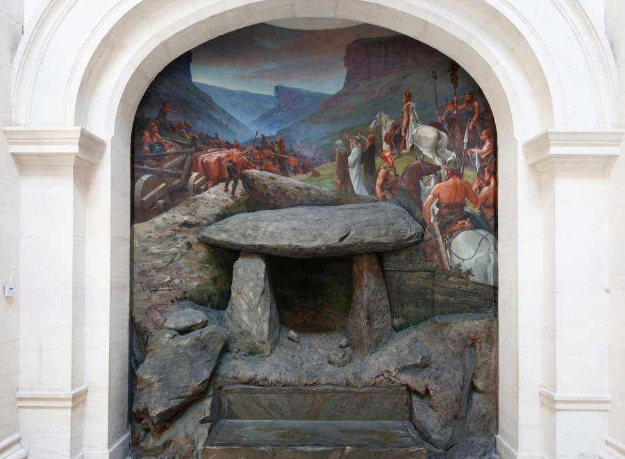 Hugo d'Alesi, Gomer devant la roche de Solutré