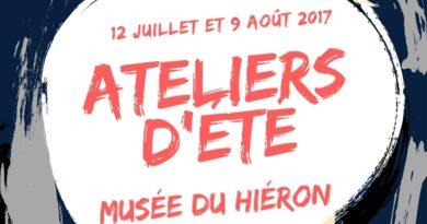 Les inscriptions pour les ateliers d'été du musée du Hiéron sont ouvertes !