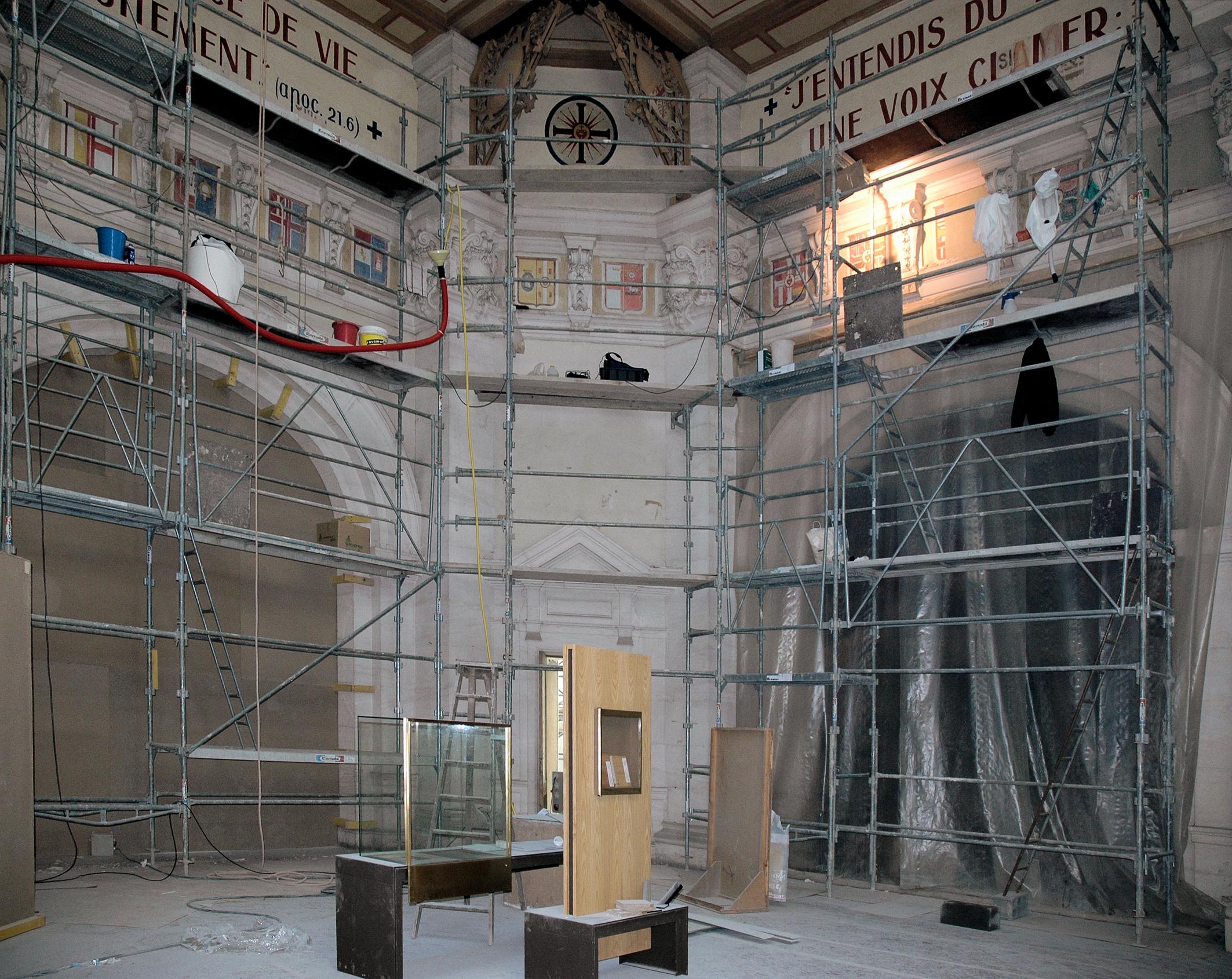 Restauration des décors de la salle centrale