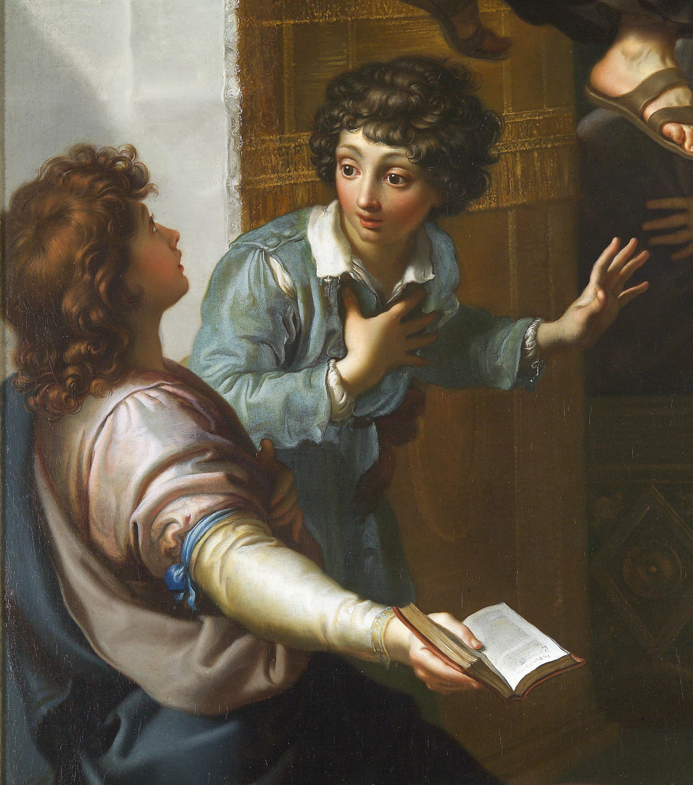 """détail de """"La lévitation du Bienheureux St Thomas de Cori"""", Antonio Cavallucci, (17e s.)"""