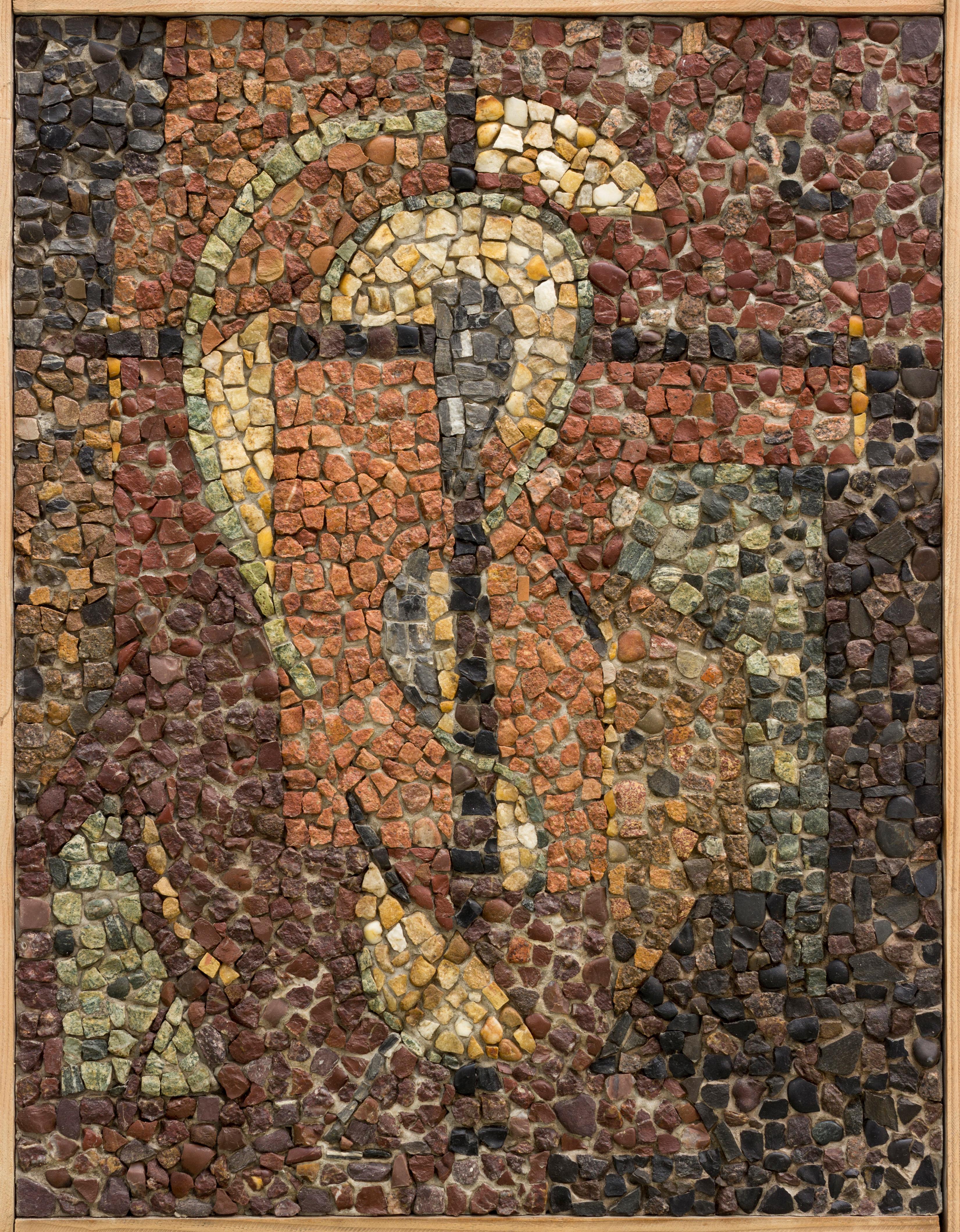 """""""Sous le Signe de la Croix"""", Daniel Gloria, 1960, mosaïque"""