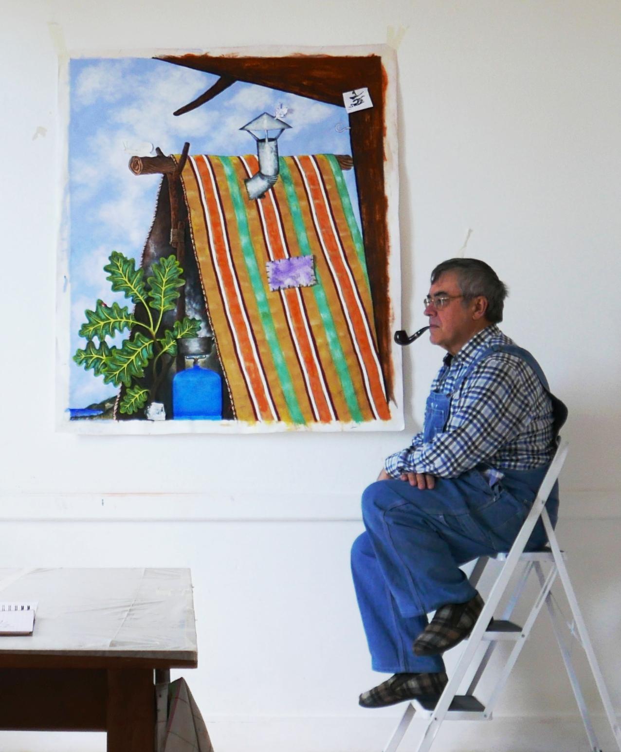 Didier Hays dans son atelier