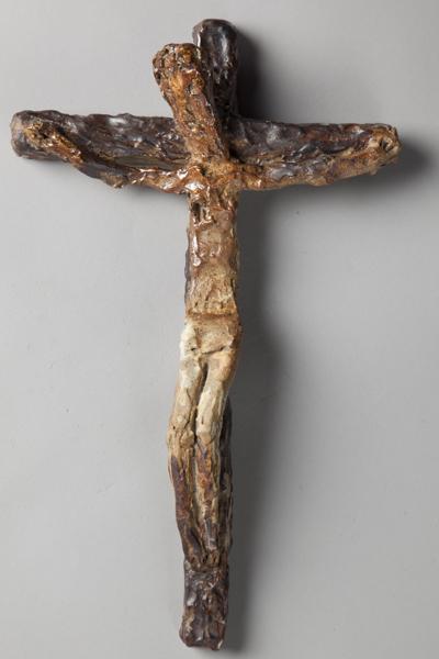 """""""Crucifix"""", Jean Lerat, fin des années 1950, grès émaillé"""