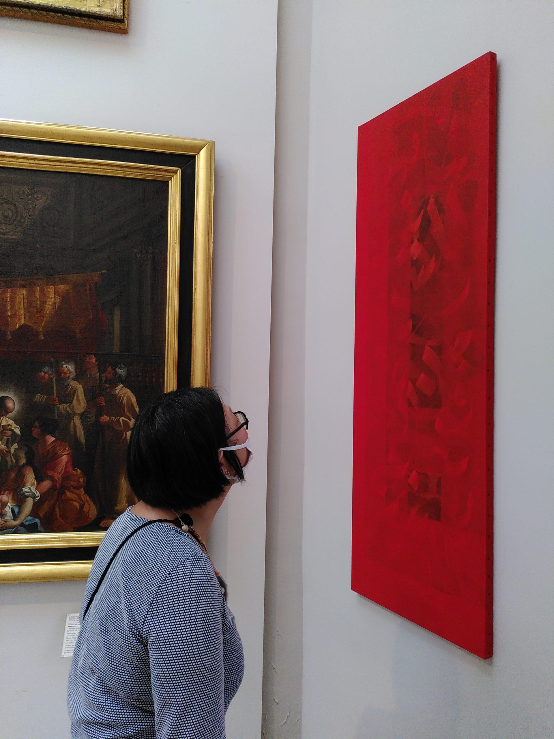 Impression, acrylique sur toile, 150 x 50 cm