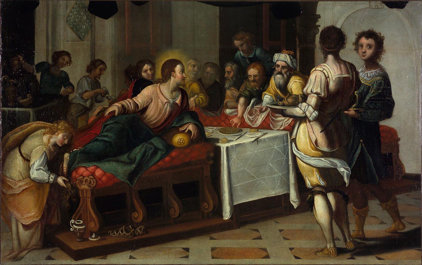 Le repas chez Simon, attr. à Matteo Ingoli