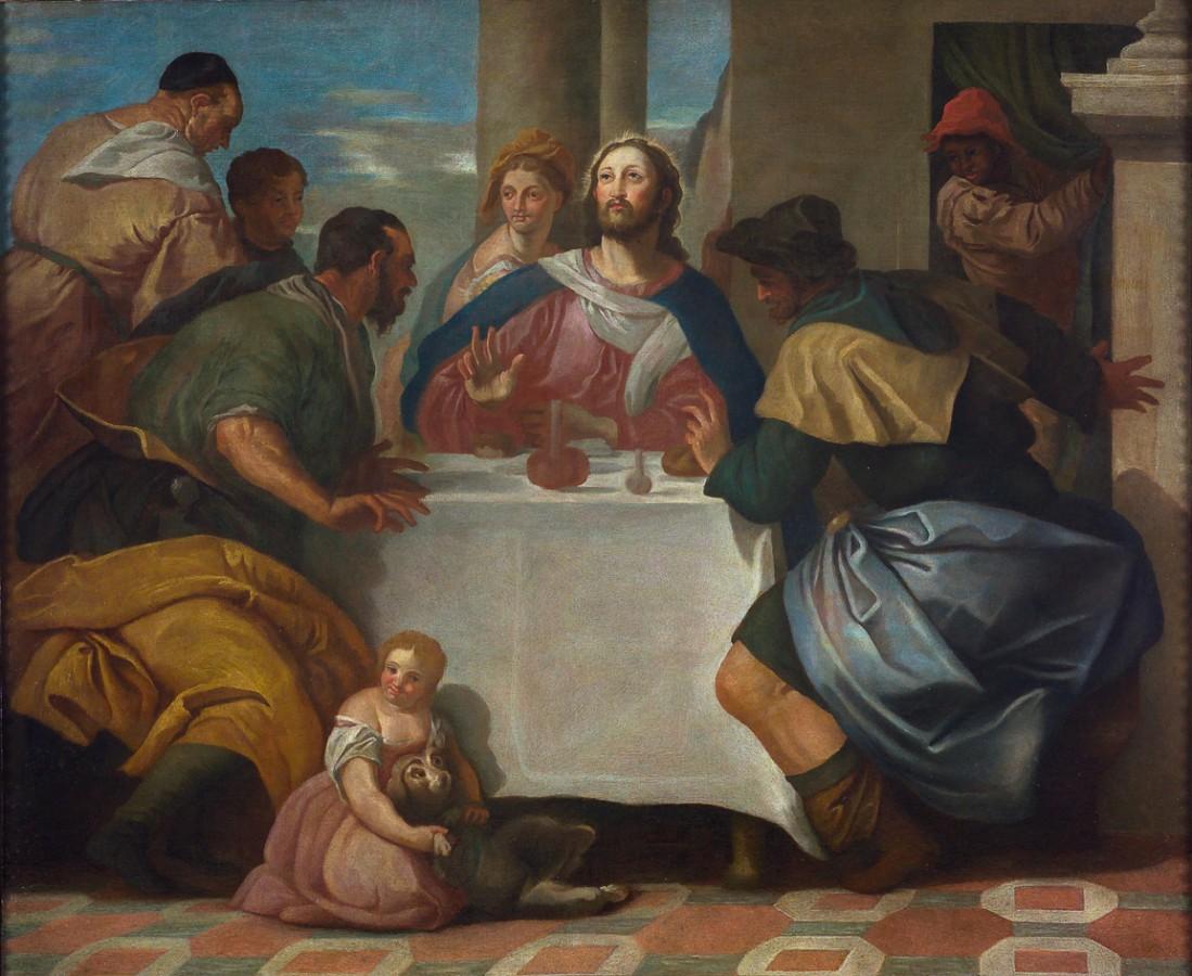 Le repas à Emmaüs, atelier de Paolo Véronèse