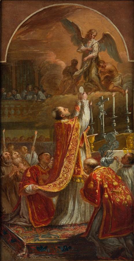Saint Jean de Matha célébrant la messe, 18e siècle