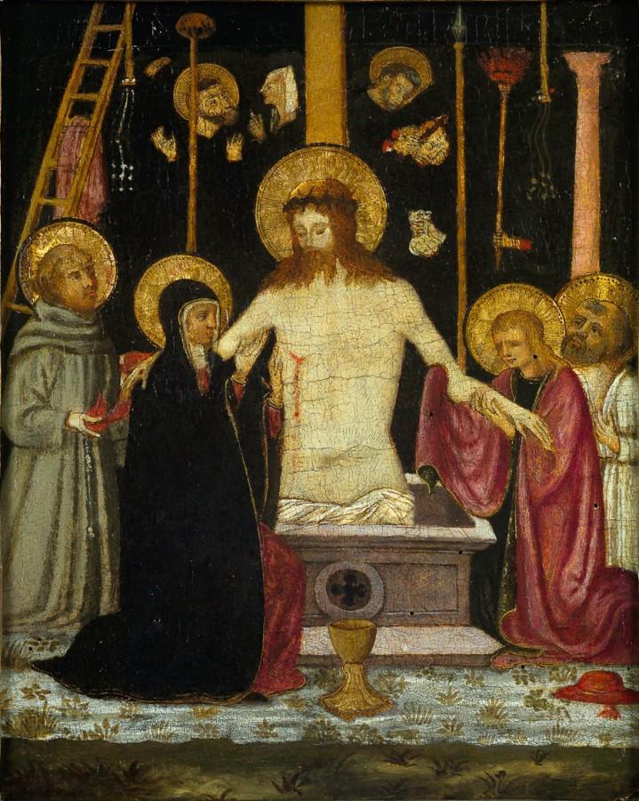 Christ de pitié entouré de la Vierge et plusieurs saints, Neri di Bicci, 15e siècle