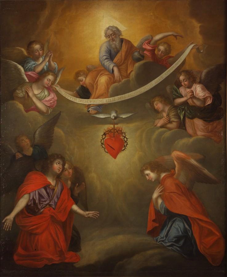 La Trinité et l'adoration du Cœur de Jésus, fin du 17e siècle - début du 18e siècle
