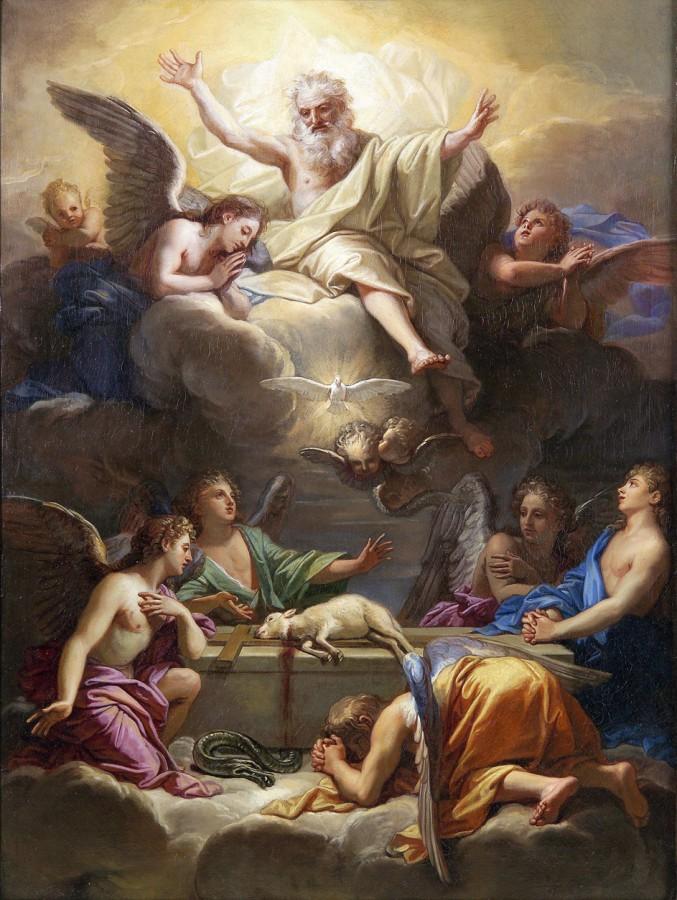 L'adoration de l'Agneau mystique, Jean Jouvenet, vers 1680