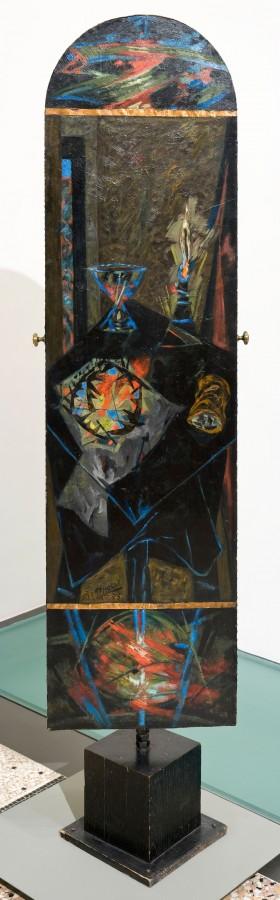 Table d'offrandes et crucifixion, 1975