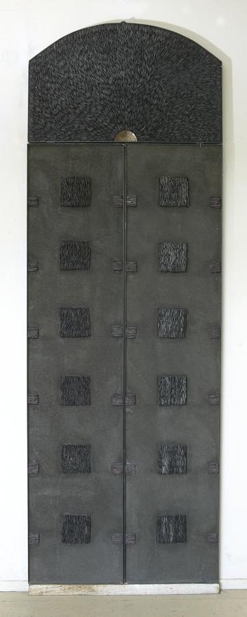 La Porte, Joël Barguil, 1995, ciment et ardoises