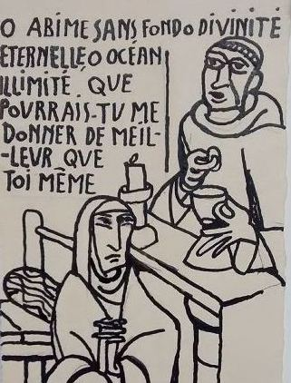 Mère Geneviève Gallois au musée du Hiéron ! Prêt de l'Abbaye de Limon