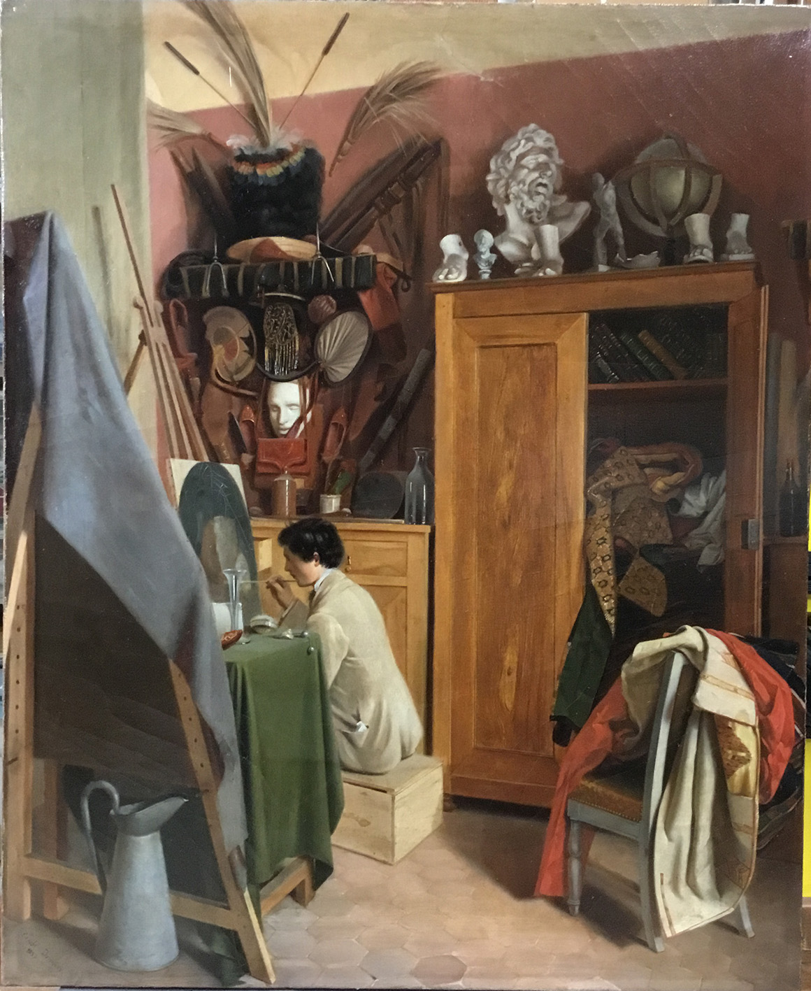 Intérieur d'atelier, Cécile Dornier, 1855 huile sur toile