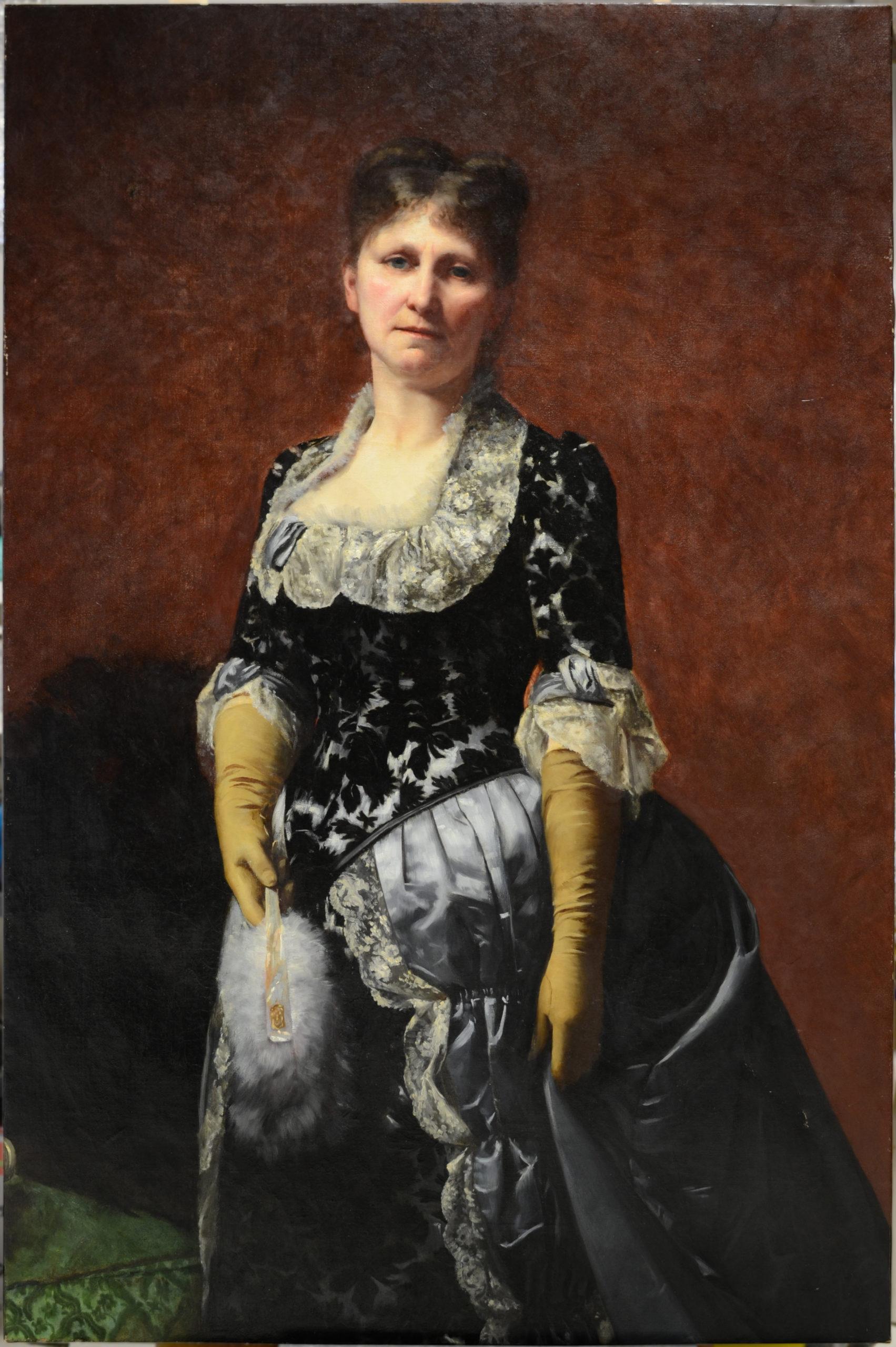 Mme Chaumelin, Noémie Guillaume, 1886 huile sur toile